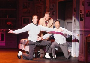 Eric Michael Parker as Robert, Larry Raben as Man in Chair and Chris Daniel as George in THE DROWSY CHAPERONE at the Norris Center.