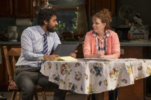 Gabriel Ruiz (Manny) and Deidre O'Conell (Mom) in Steppenwolf's production of THE WAY WEST.