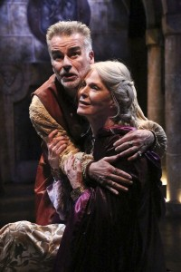 Ian Buchanan and Mariette Hartley star in the Colony Theatre production of THE LION IN WINTER, by James Goldman and directed by Stephanie Vlahos.