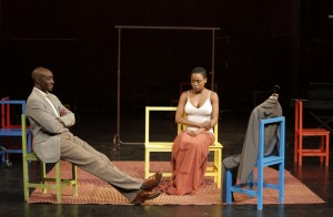 Ivanno Jeremiah and Nonhlanhla Kheswa in Théâtre Des Bouffes du Nord and Peter Brook's THE SUIT - Photo by Pascal Victor