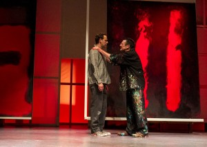 Jason Maddy, John Vickery in San Diego REP's production of RED.