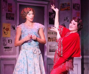 Jessica Ernest as Janet and Tracy Lore as the titular THE DROWSY CHAPERONE at the Norris Center. (1)