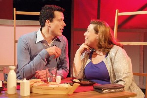 Jonathan Bray and Deidra Edwards in Neil LaBute's FAT PIG at the Hudson Theater