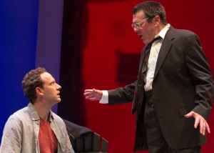 L-R Jason Maddy and John Vickery in San Diego REP's production of RED.