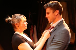 Larisa Oleynik and Donovan Patton star in the L.A. Premiere of BE A GOOD LITTLE WIDOW by Bekah Brunstetter and directed by Sara Botsford at the NoHo Arts Center in North Hollywood.