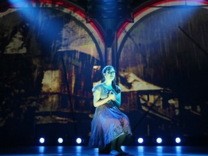 Ruthie Ann Miles in HERE LIES LOVE at The Public Theatre
