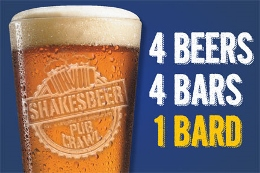 Post image for Off-Broadway Theater Review: SHAKESBEER (New York Shakespeare Exchange)