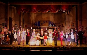The cast of THE DROWSY CHAPERONE at the Norris Center.