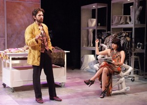 Tyler Pierce and Kate Maher in EVERYTHING YOU TOUCH at Boston Court.