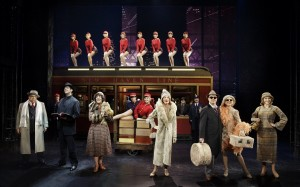 Vincent Pastore, Nick Cordero, Karen Ziemba, Marin Mazzie, Brooks Ashmanskas, Helene Yorke and Betsy Wolfe with the Cast of Bullets Over Broadway