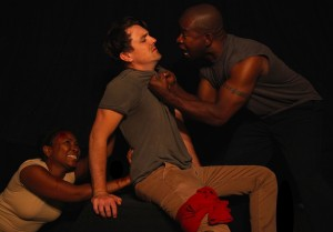 Wendy Elizabeth Abraham, Luke Baybak and Tony Williams in FATHERS AT A GAME