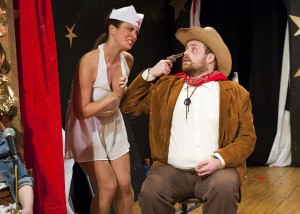 """Jillian Rorrer and Tom Sanchez in Less Than Rent's """"Little Mac, Little Mac, You're the Very Man!"""""""