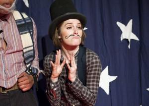 "Lance Lemon and Rachel B. Joyce in Less Than Rent's ""Little Mac, Little Mac, You're the Very Man!"""