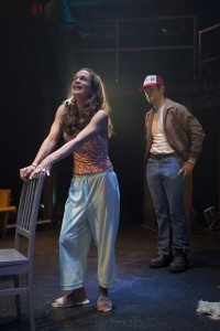 (left to right) Rebecca Jordan and Drew Schad in Shattered Globe Theatre's production of MILL FIRE by Sally Nemeth, directed by Sandy Shinner.