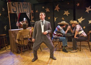 "Alex Kramer, Joe Flynn and Lance Lemon in Less Than Rent's ""Little Mac, Little Mac, You're the Very Man!"""