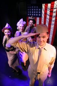 Casi Maggio, Sarah Larson, Jordan Yentz, William Lucas in A Musical Tribute to the Andrews Sisters at Theo Ubique.