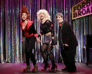 Carter Calvert, Scott Richard Foster, and Marcus Stevens in a scene from Gerard Alessandrini's FORBIDDEN BROADWAY COMES OUT SWINGING!