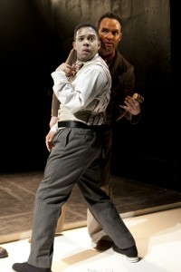 Chris Myers (BJJ), Danny Wolohan (Playwright) in Branden Jacobs-Jenkins' AN OCTOROON at SoHo Rep.