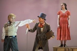 Chris Myers (George), Danny Wolohan (Lafouche), Amber Gray (Zoe) in Branden Jacobs-Jenkins' AN OCTOROON at SoHo Rep.