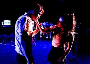 From Kate Hutter's I RAN, L.A. Contemporary Dance Company - photo by Taso Papadakis.