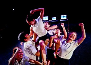 From Kate Hutter's I RAN, L.A. Contemporary Dance Company. Photo by Taso Papadakis.