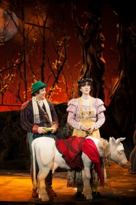 Jeff Skowron is The Baker and Viva Carr is his Wife in 3-D Theatricals' INTO THE WOODS.