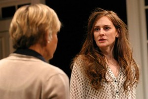 Lily Knight and Deborah Puette in A DELICATE BALANCE at the Odyssey Theatre.