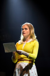 Meghan Reardon as Betty in Ask Aunt Susan by Seth Bockley, directed by Henry Wishcamper at Goodman Theatre