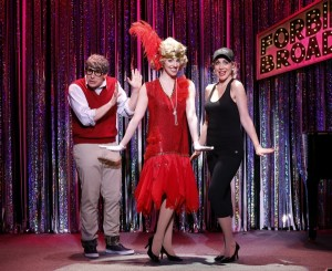 Marcus Stevens, Mia Gentile, Carter Calvert in a scene from Gerard Alessandrini's FORBIDDEN BROADWAY COMES OUT SWINGING!