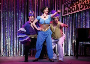 Marcus Stevens, Mia Gentile, Scott Richard Foster in a scene from Gerard Alessandrini's FORBIDDEN BROADWAY COMES OUT SWINGING!