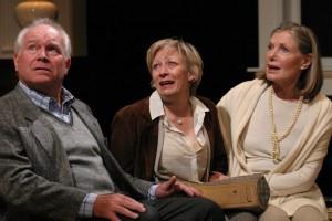 Mark Costello, Lily Knight, Susan Sullivan in A DELICATE BALANCE at the Odyssey Theatre.