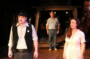 Michael Downing (File), Tim Hodgin (H.C. Curry) and Treva Tegtmeier (Lizzie Curry) in Actors Co-op's production of 110 IN THE SHADE.