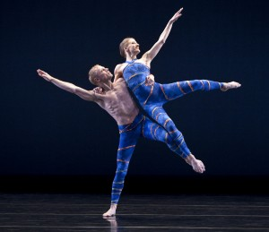 Michael Trusnovec and Amy Young in Mercuric Tidings-PAUL TAYLOR DANCE COMPANY. Photo by Paul B. Goode