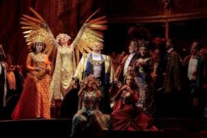 Nino Machaidze as Thais, with Paul Groves as Nicias in THAÏS at Los Angeles Opera.