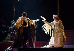 Nino Machaidze in a scene from THAIS (photo by Guillermo Mendo, courtesy of the Teatro de la Maestranza, Seville)