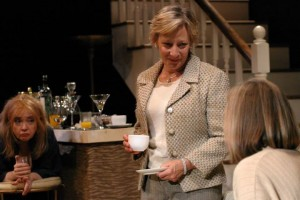 O-Lan Jones, Lily Knight, and Susan Sullivan in A DELICATE BALANCE at the Odyssey Theatre.