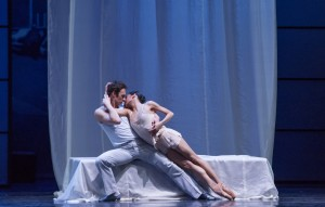 Rory Hohenstein and Christine Rocas in the Joffrey's ROMEO AND JULIET.