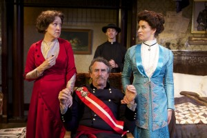 Shana Wride, Andy Barnicle, Ben Cole, and Frances Rivera in North Coast Rep's FADED GLORY.