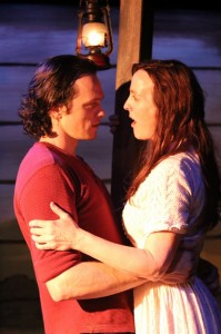 Skylar Adams (Starbuck) and Treva Tegtmeier (Lizzie) in Actors Co-op's production of 110 IN THE SHADE.