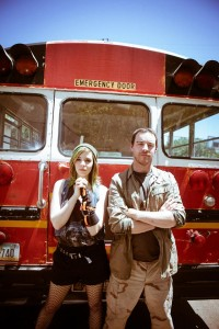 Stacey Hardke and Michael Nieto in a promo shot for Circle Circle dot dot's NO PLACE LIKE HOME.