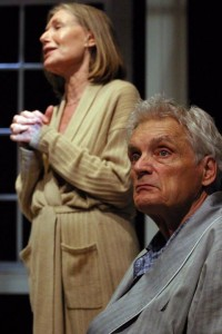 Susan Sullivan and David Selby in A DELICATE BALANCE at the Odyssey Theatre.