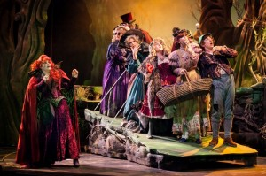 The cast of 3-D Theatricals' INTO THE WOODS.