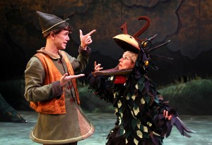 Matt McGrath and Amanda Pajer in South Coast Repertory's Theatre for Young Audiences production of The Stinky Cheese Man and Other Fairly Stupid Tales