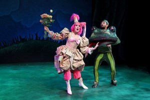 Erika Schindele and Brad Culver in South Coast Repertory's Theatre for Young Audiences production of The Stinky Cheese Man and Other Fairly Stupid Tales
