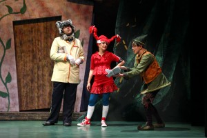 Nicholas Mongiardo-Cooper, Amanda Pajer and Matt McGrath in South Coast Repertory's Theatre for Young Audiences production of The Stinky Cheese Man and Other Fairly Stupid Tales