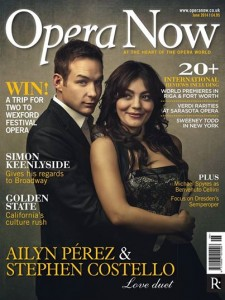 Ailyn Pérez & Stephen Costello are the cover stars of this month's Opera Now magazine.