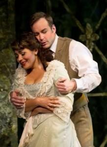 Ailyn Pérez and Stephen Costello in LA TRAVIATA at Cincinnatti Opera (photo by Philip Groshong)