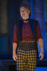 Danny Scheie as Dromio in Cal Shakes' THE COMEDY OF ERRORS, directed by Aaron Posner - photo by Kevin Berne