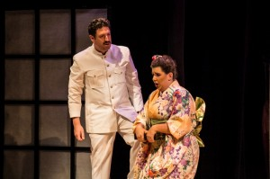 Dylan F. Thomas (Pinkerton, director of production) and Marina Harris (Butterfly) in Center Stage Opera's MADAMA BUTTERFLY.