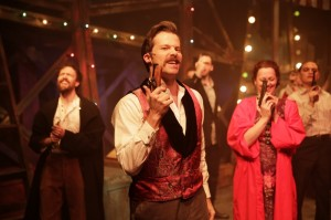 Eric Lindahl (John Wilkes Booth) leads the company of Kokandy Productions' ASSASSINS.